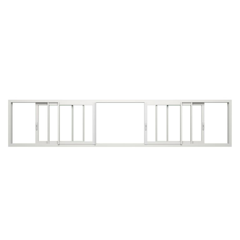 Fenêtre coulissante ALU gamme Titans 6 vantaux 3 rails fermé