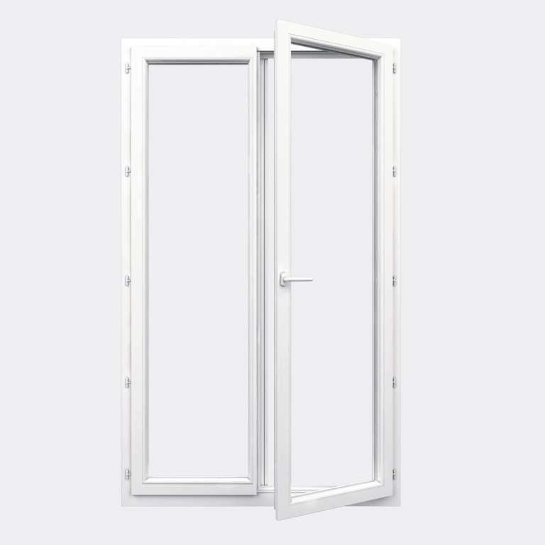Porte Fenêtre PVC gamme Confort 2 vantaux à la française ouvert