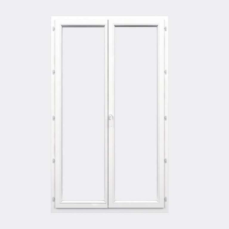 Porte Fenêtre PVC gamme Confort 2 vantaux à la française fermé