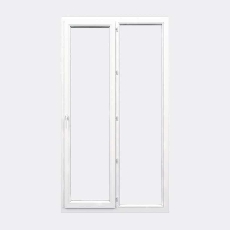 Porte Fenêtre PVC gamme Confort 1 vantail à la française 1 fixe fermé