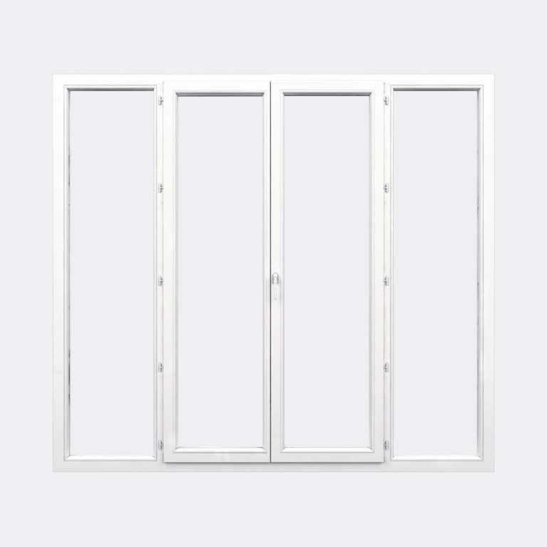 Porte Fenêtre PVC gamme Confort 2 vantaux à la française 2 fixes fermé