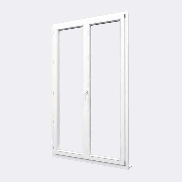 Porte Fenêtre PVC gamme Confort 2 vantaux dont 1 oscillo-battant fermé