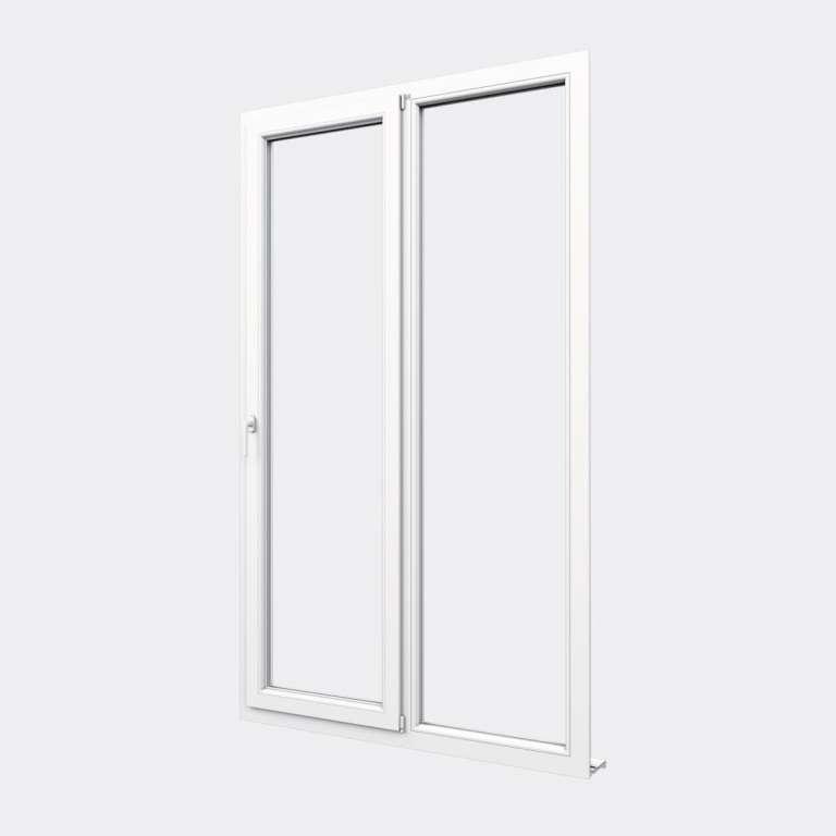 Porte Fenêtre PVC gamme Confort 1 vantail oscillo-battant 1 fixe fermé