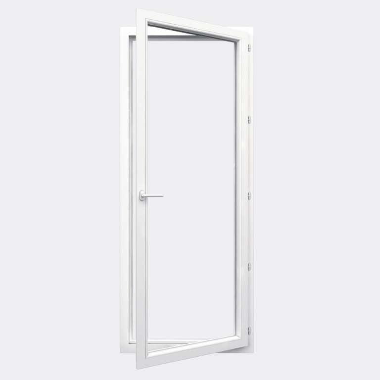 Porte Fenêtre PVC gamme Design 1 vantail à la française ouvert