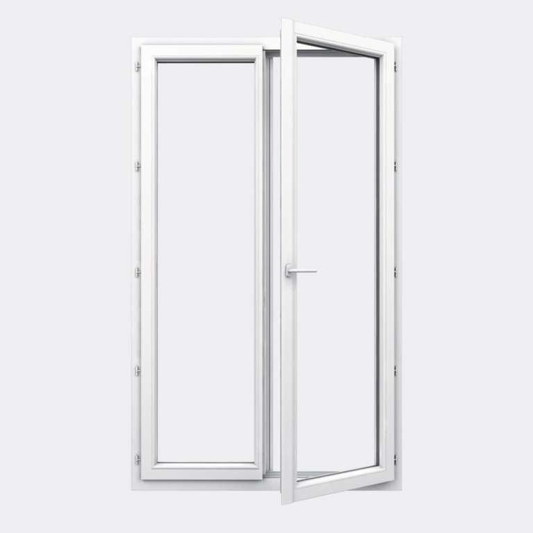 Porte Fenêtre PVC gamme Design 2 vantaux à la française ouvert