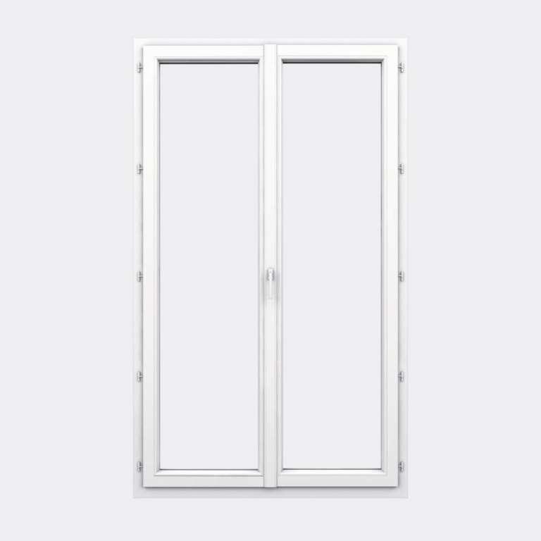 Porte Fenêtre PVC gamme Design 2 vantaux à la française fermé
