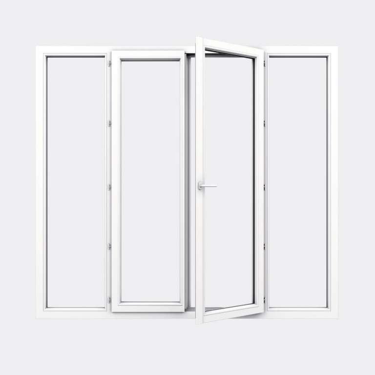 Porte Fenêtre PVC gamme Design 2 vantaux à la française 2 fixes ouvert