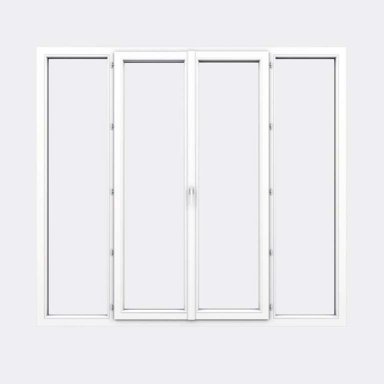 Porte Fenêtre PVC gamme Design 2 vantaux à la française 2 fixes fermé