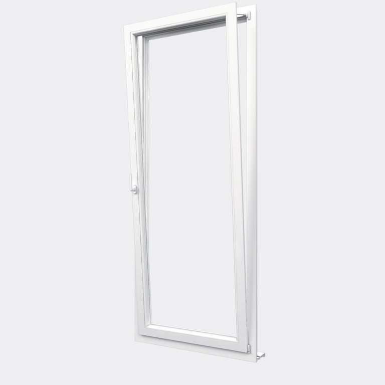 Porte Fenêtre PVC gamme Design 1 vantail oscillo-battant ouvert