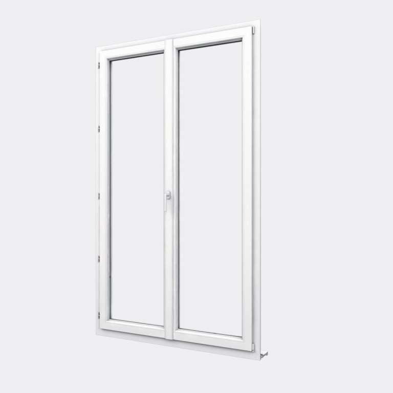 Porte Fenêtre PVC gamme Design 2 vantaux dont 1 oscillo-battant fermé