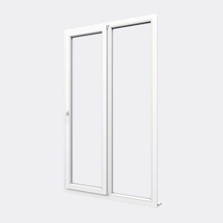 Porte Fenêtre PVC gamme Design 1 vantail oscillo-battant 1 fixe fermé