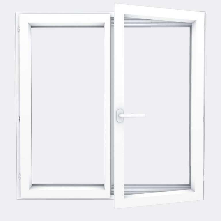 Fenêtre ALU gamme Titans 2 vantaux à la française ouvert