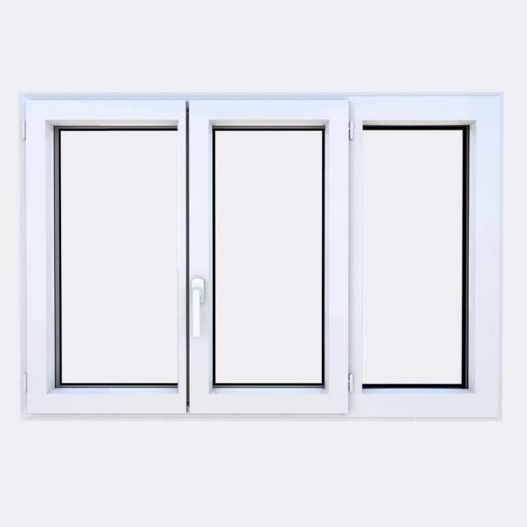 Fenêtre ALU gamme Titans 2 vantaux à la française 1 fixe fermé