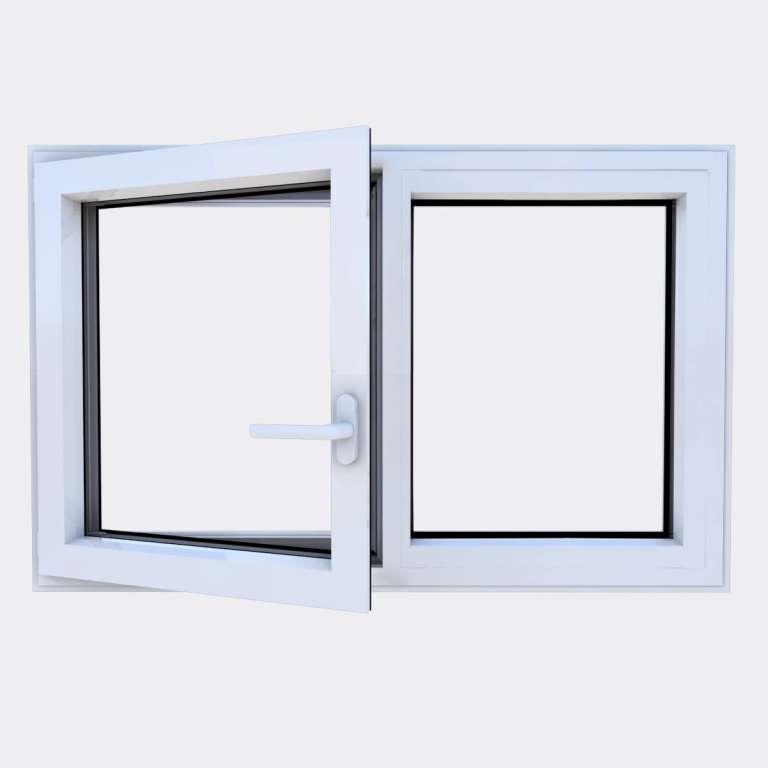 Fenêtre ALU gamme Titans 1 vantail à la française 1 fixe ouvert