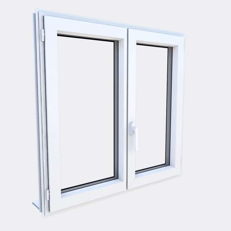 Fenêtre ALU gamme Titans 2 vantaux dont 1 oscillo-battant fermé