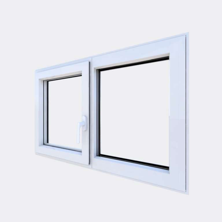Fenêtre ALU gamme Titans 1 vantail oscillo-battant 1 fixe fermé