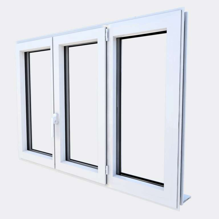 Fenêtre ALU gamme Titans 2 vantaux dont 1 oscillo-battant 1 fixe fermé