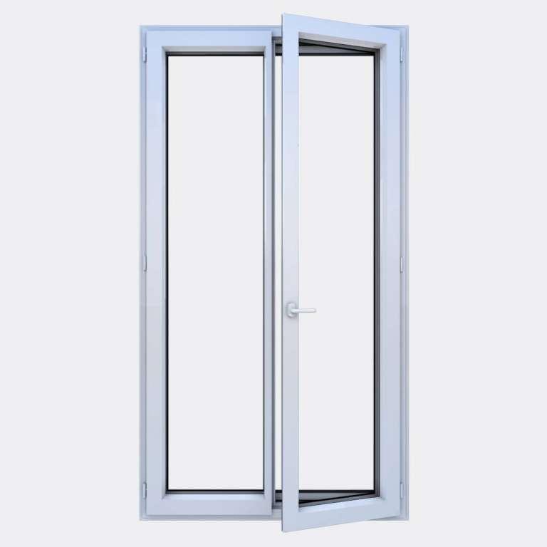 Porte Fenêtre ALU gamme Titans 2 vantaux à la française ouvert