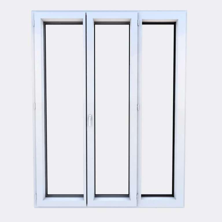 Porte Fenêtre ALU gamme Titans 2 vantaux à la française 1 fixe fermé