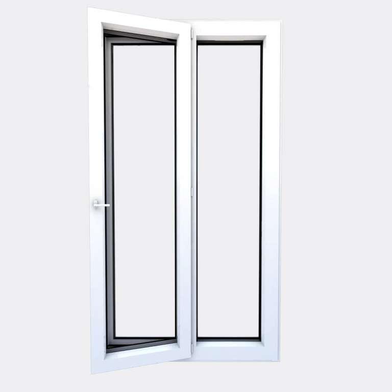 Porte Fenêtre ALU gamme Titans 1 vantail à la française 1 fixe ouvert