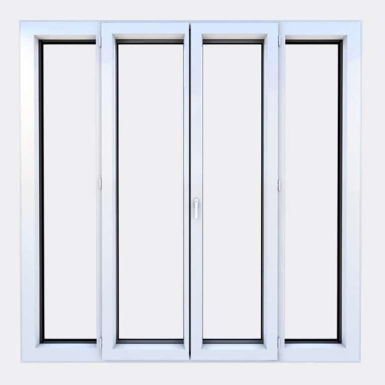 Porte Fenêtre ALU gamme Titans 2 vantaux à la française 2 fixes fermé