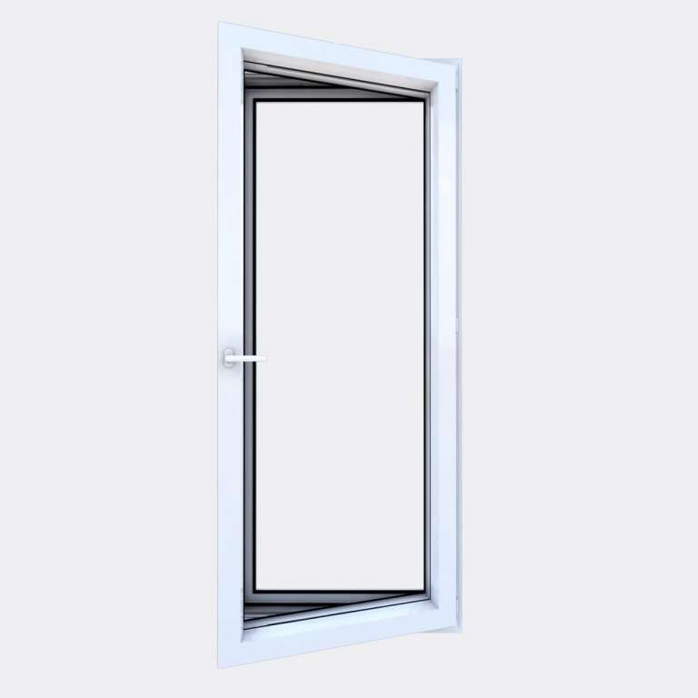 Porte Fenêtre ALU gamme Titans+ 1 vantail à la française ouvert