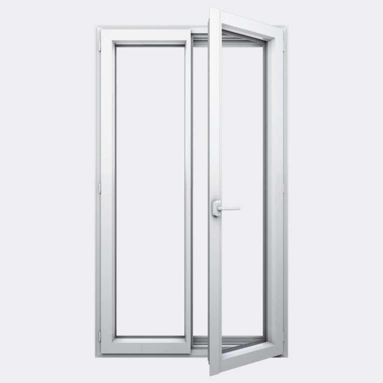 Porte Fenêtre ALU gamme Titans+ 2 vantaux à la française ouvert