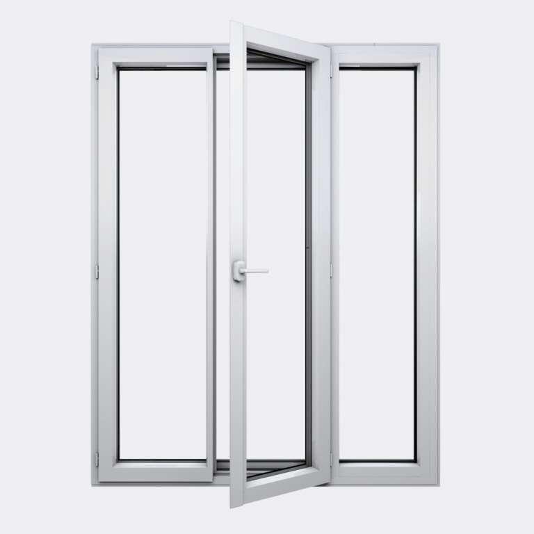Porte Fenêtre ALU gamme Titans+ 2 vantaux à la française 1 fixe ouvert