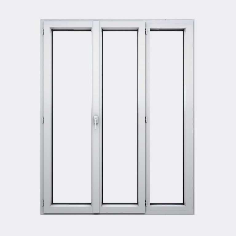 Porte Fenêtre ALU gamme Titans+ 2 vantaux à la française 1 fixe fermé