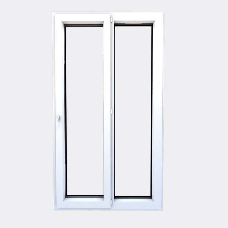 Porte Fenêtre ALU gamme Titans+ 1 vantail à la française 1 fixe fermé