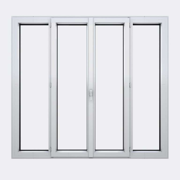 Porte Fenêtre ALU gamme Titans+ 2 vantaux à la française 2 fixes fermé