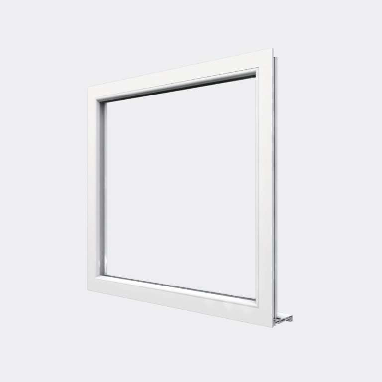 chassis fixe pvc blanc seconde