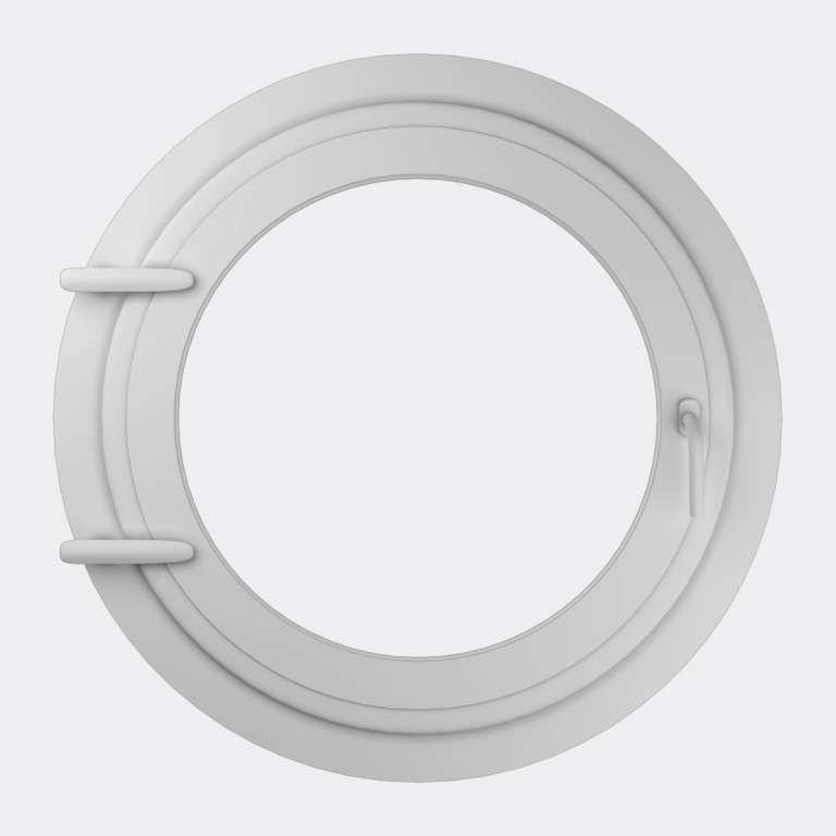 Oeil de boeuf PVC 1 vantail ouverture à la française