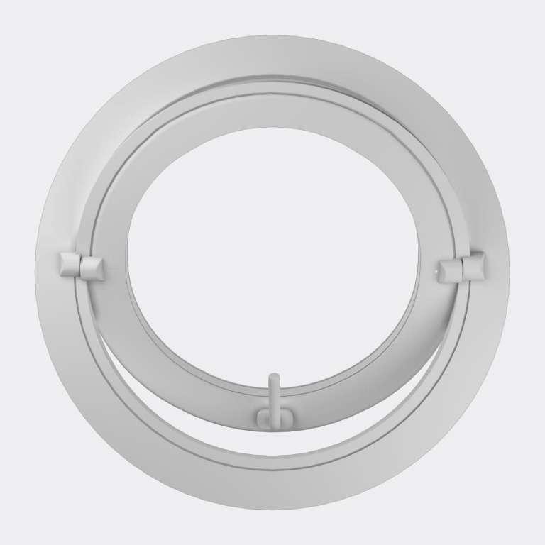 Oeil de boeuf PVC 1 vantail ouverture basculante