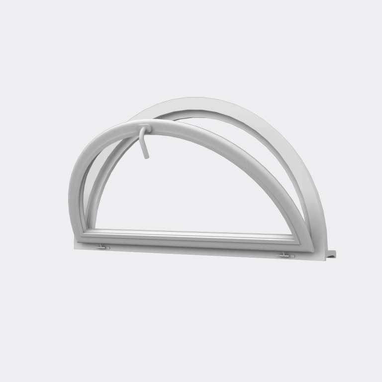 Demi Lune PVC 1 vantail ouverture basculante