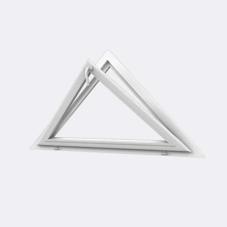 Houteau (triangle) PVC 1 vantail ouvrant basculant
