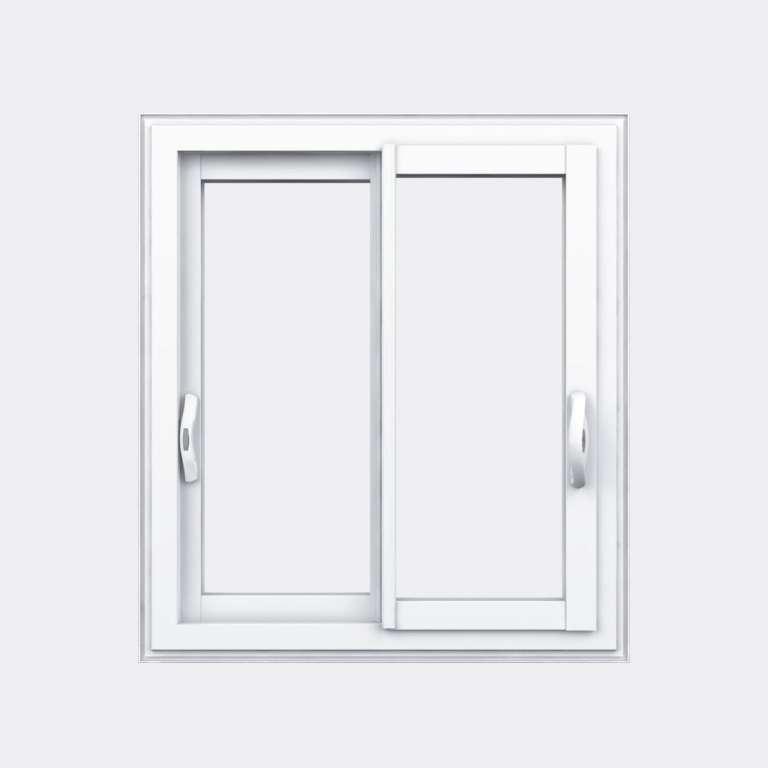 Fenêtre coulissante PVC gamme Slide 2 vantaux 2 rails fermé