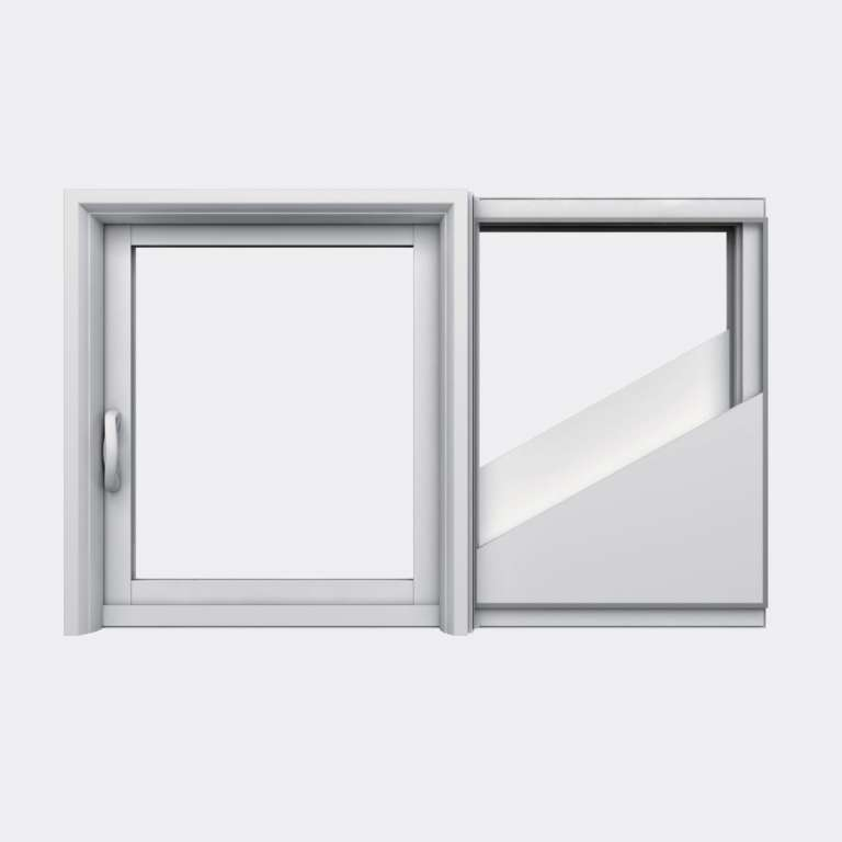 Fenêtre coulissante galandage PVC gamme Slide Galandage 1 vantail 1 rail fermé