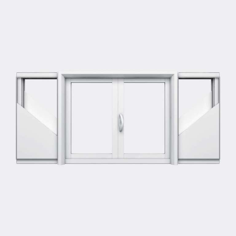 Fenêtre coulissante galandage PVC gamme Slide Galandage 2 vantaux 1 rail fermé