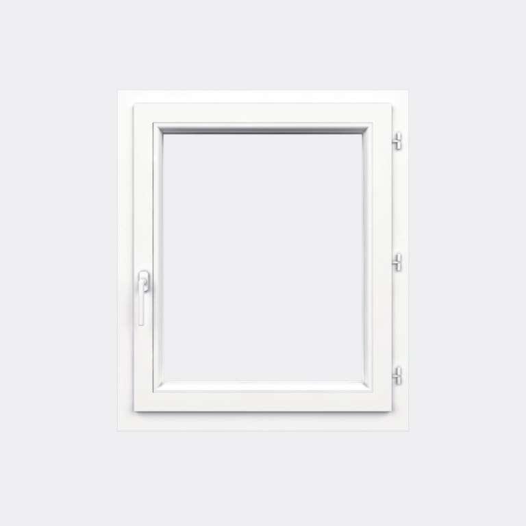 Fenêtre PVC gamme Confort 1 vantail ouverture à la française fermé