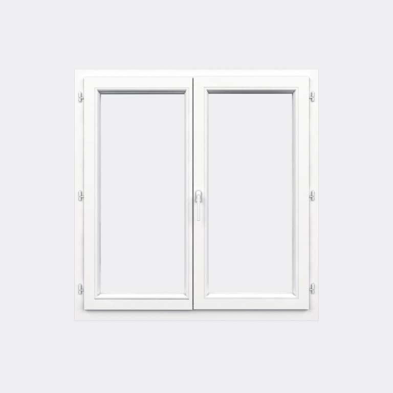 Fenêtre PVC gamme Confort 2 vantaux ouverture à la française fermé