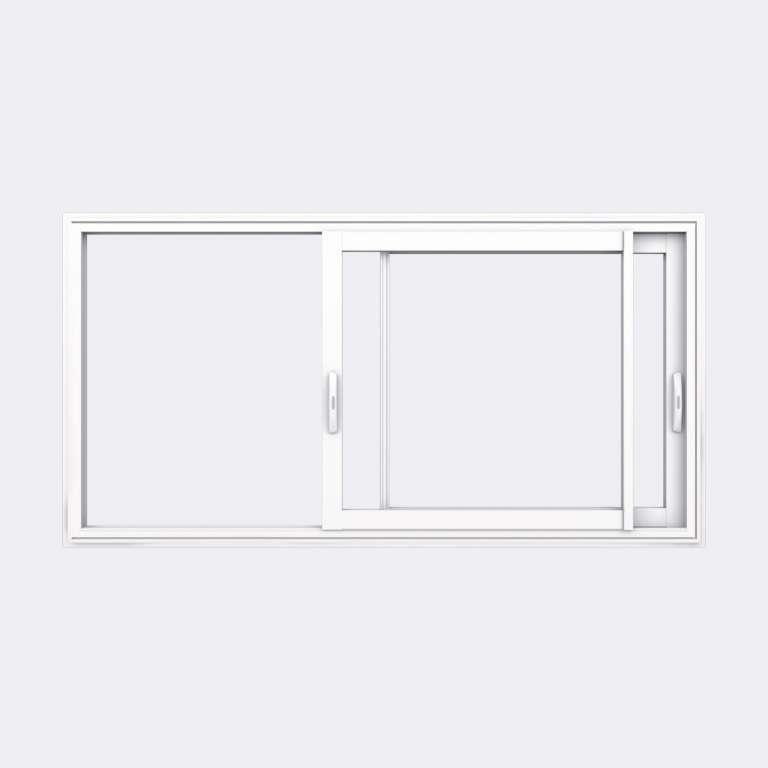 Fenêtre coulissante ALU gamme Titans 2 vantaux 2 rails ouvert