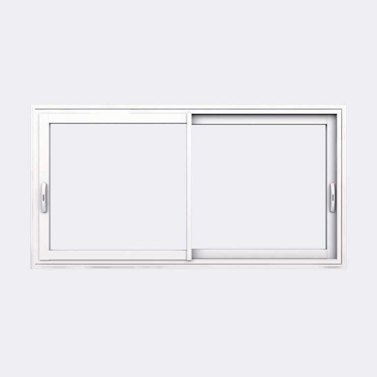 Fenêtre coulissante ALU gamme Titans 2 vantaux 2 rails fermé