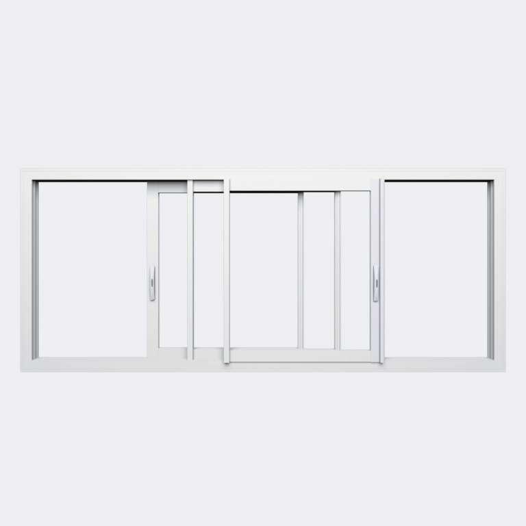 Fenêtre coulissante ALU gamme Titans 3 vantaux 3 rails ouvert