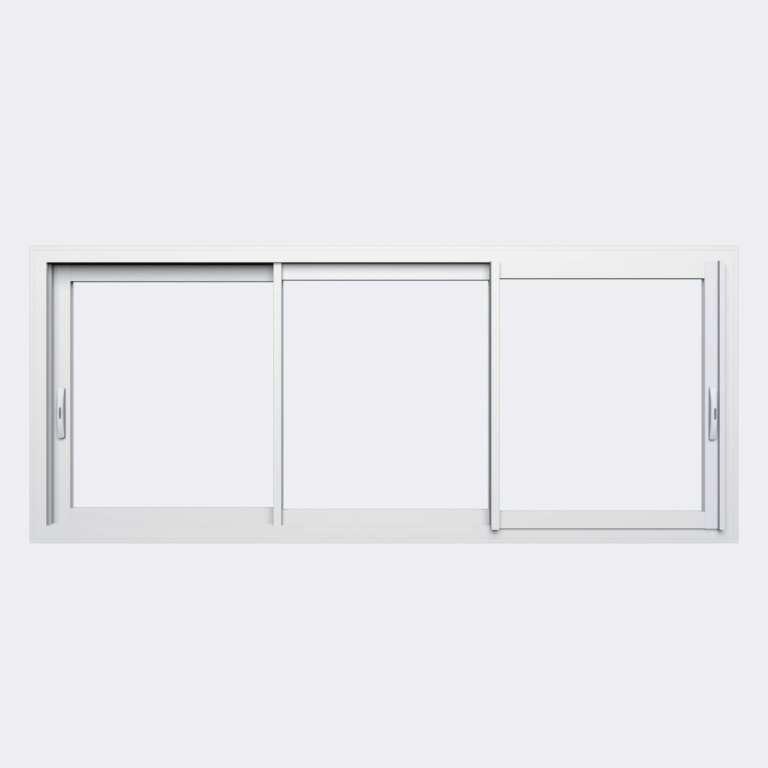 Fenêtre coulissante ALU gamme Titans 3 vantaux 3 rails fermé