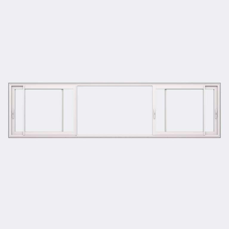 Fenêtre coulissante ALU gamme Titans 4 vantaux 2 rails ouvert