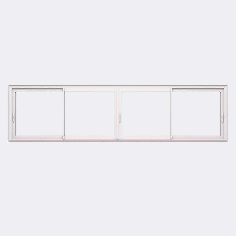 Fenêtre coulissante ALU gamme Titans 4 vantaux 2 rails fermé