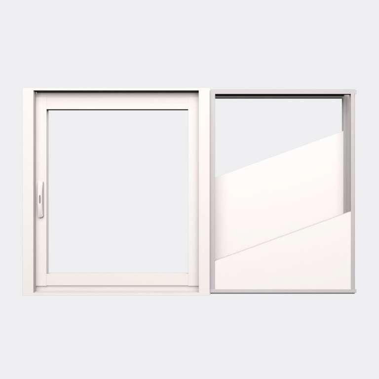 Fenêtre coulissante galandage ALU gamme Titans Galandage 1 vantail 1 rail fermé