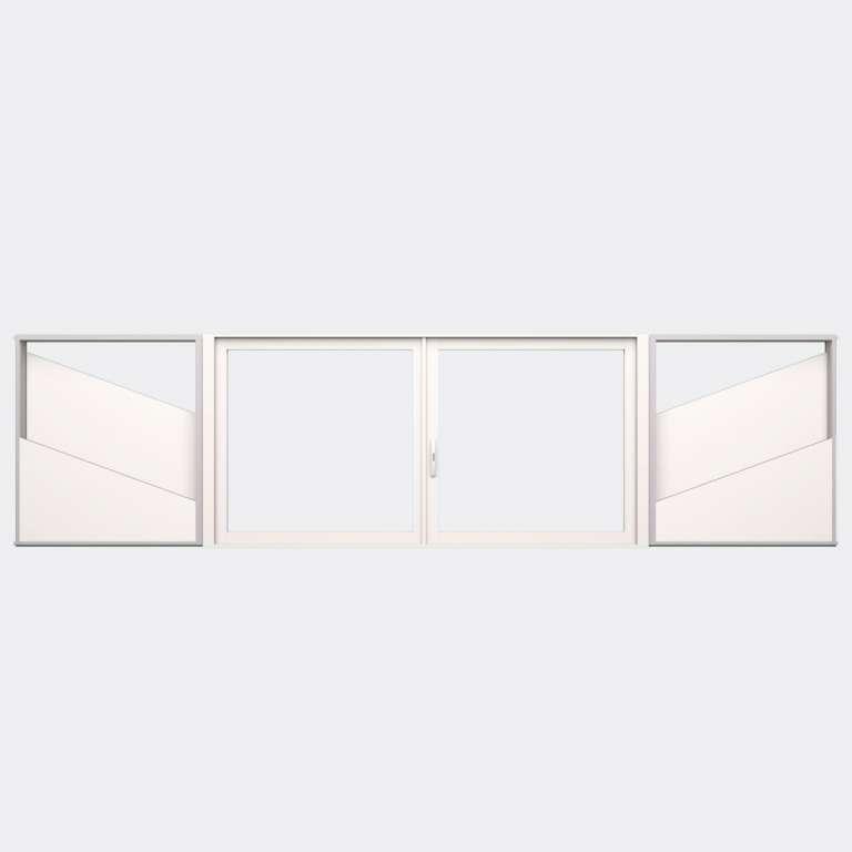 Fenêtre coulissante galandage ALU gamme Titans Galandage 2 vantaux 1 rail fermé