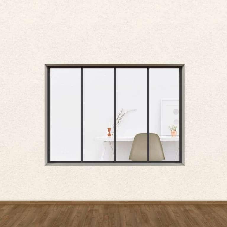 Verrière Atelier Gamme Loft ALU 4 vitrages (Sans vitrage)